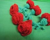 Red Crochet Valentine Rose