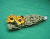 Crochet Flower Head Band Adult Size