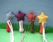 Crochet Magic Wand (Rose and Green)
