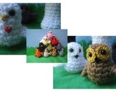 PDF Pattern Little Bird Told Crochet Bird and Owl