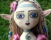 Garden Elf - Cloth Art Doll