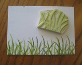 Hand Carved Big Grass Stamp