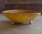 Primitive Yellow Wood Dough Fruit Munising Bowl 2012342