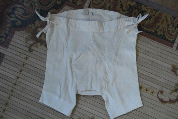 Vintage 1910s Cotton Mens Underwear Boxer Briefs By