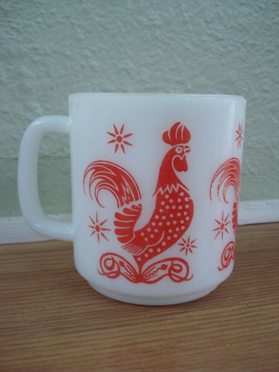 1960s Rooster Fire King Anchor Hocking Mug 2012174