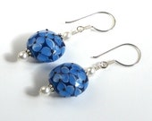 Blue Ripple Wave Earrings - Reserved for AylaALA