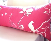 Hot Pink Flying By Rectangle Pillow