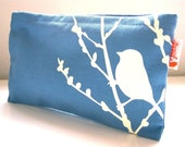 SALE Havelock Blue Bird on Cherry Blossom Pouch