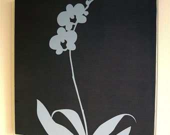 Midnight Blue Orchid Wall Art