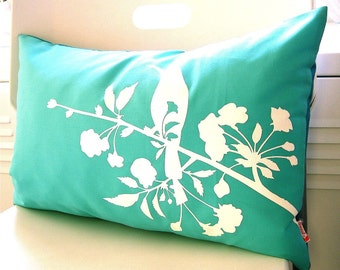 Limited Time Sale Mint Blooming Blossom Rectangle Pillow