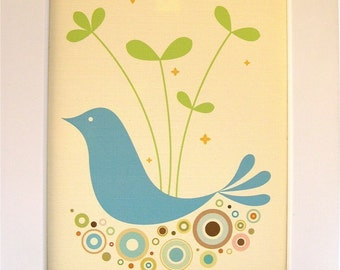 Framed Blue Tweetie Print