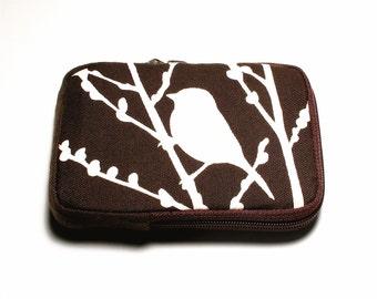SALE Dark Brown Bird on Cherry Blossom Case