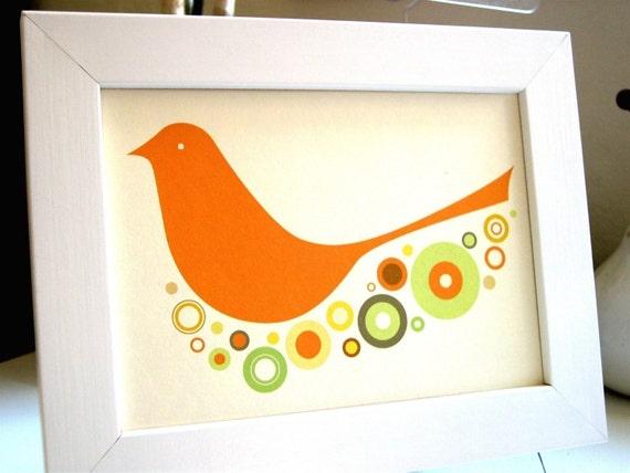 Framed Birdie Print