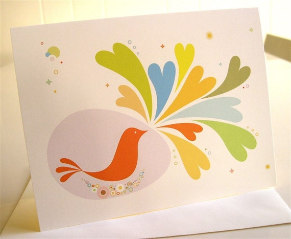 Birdie Shares Love Cards - Set of 3