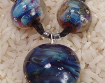 Mystical Blues Lampwork Bead Set