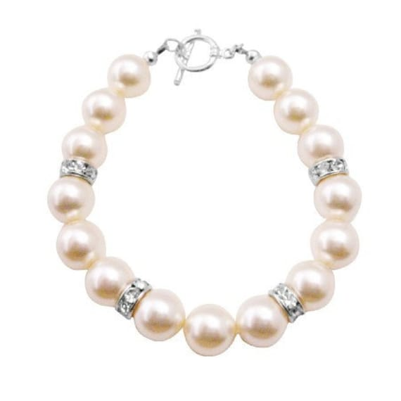 Big Pearls Bracelet Ivory Pearls Exclusively Gift Wedding Flower Girl Free Shipping for United States