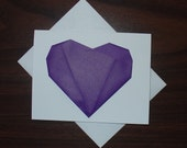 Unusual ORIGAMI SECRET MESSAGE HEART CARD