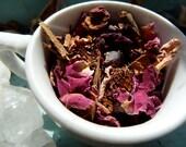 2 oz of Organic DELICATE DARKNESS Balance Inspiring  - Herbal Blend Tea