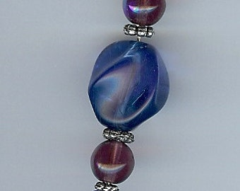 Pocket Watch Chain in Blue and Purple
