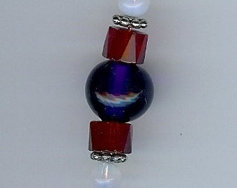 Pocket Watch Chain in Red, White, and Blue