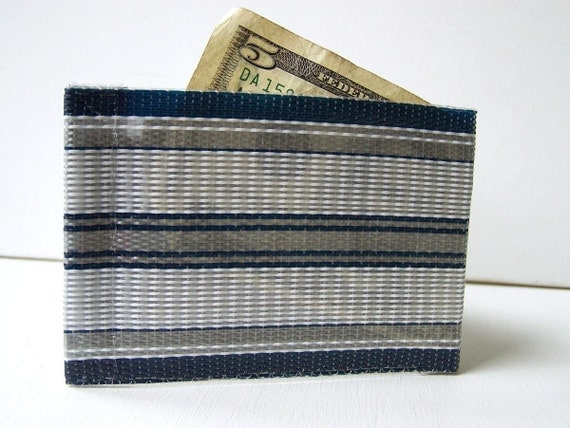 Web Wallet Navy Stripe