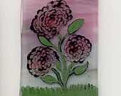 Fused Glass Painting on Glass - Flowers In Bloom