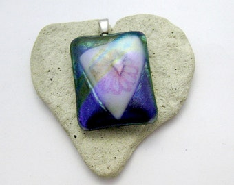 Flower Power Fused Glass Pendant