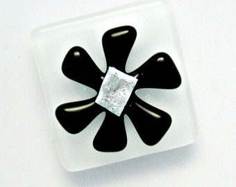 Flower Power Magnet - Fused Dichroic Glass Magnet