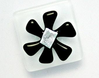 Flower Power Magnet - Fused Dichroic Glass Magnet