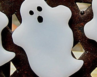 Halloween Spooky Ghost Fused Glass Magnet
