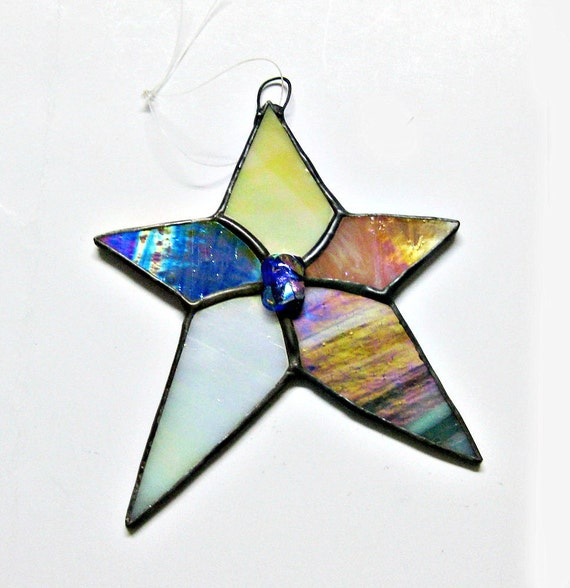 Stained Star Glass Ornament or Suncatcher