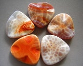 SALE SALE SALE  Wavy Fire Agate Triangle Beads