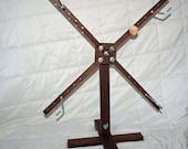 Solid Black Walnut Yarn Swift/Winder - Freestanding, vertical, upright