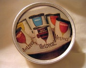 Vintage Retro Metrecal Ad Trinket Tin