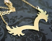 Girl on fire - Athena Necklace - 14k gf with brass flame