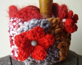 poppy scarflette (neckwarmer)