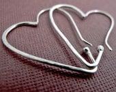 Heart Hoops - Sterling Silver