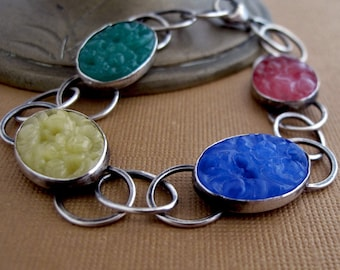 Multi-Color Stepping Stone Bracelet