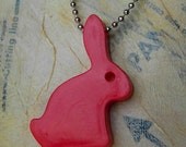 Red Rabbit Toy -necklace