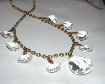 Chandelier Crystal Necklace and Earring Set