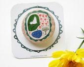 Tiny Travelling Garden (Pinback Button)