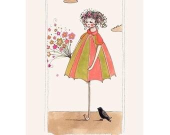 Dear mr Blackbird - Art Print