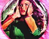 Gothic Romance - Pocket Mirror - Emerald Green Dress