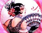 Pocket Mirror - Spanish Flamenco Dancer - Gypsy Carmen