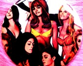 Pocket Mirror - Beyond the Valley of the Dolls - Carrie Nations - Vintage - Pop Culture - Cult Classic