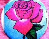 Pocket Mirror - Loteria - La Rosa - Rose - Mexicana