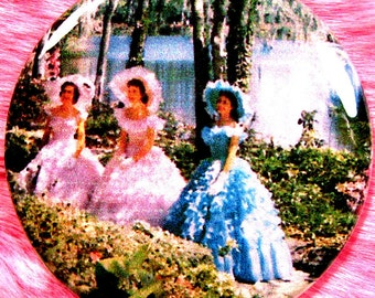 Pocket Mirror - Southern Belles - Debutante - Ball Gown