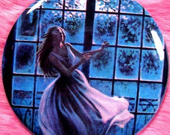 Pocket Mirror - Vintage - Gothic Romance