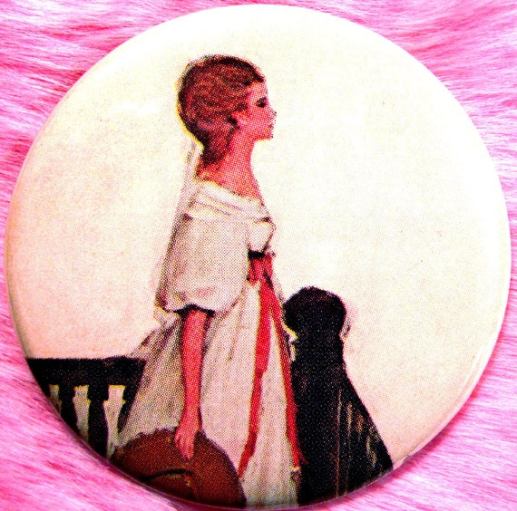 Pocket Mirror - OOAK - Rebecca - Daphne du Maurier