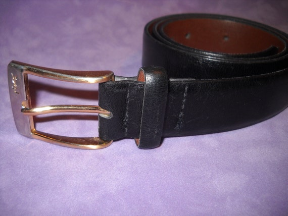 YSL Yves Saint Laurent Leather Belt